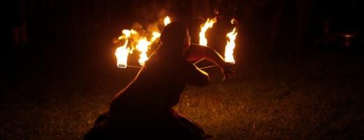 Hexerei und Feuershow